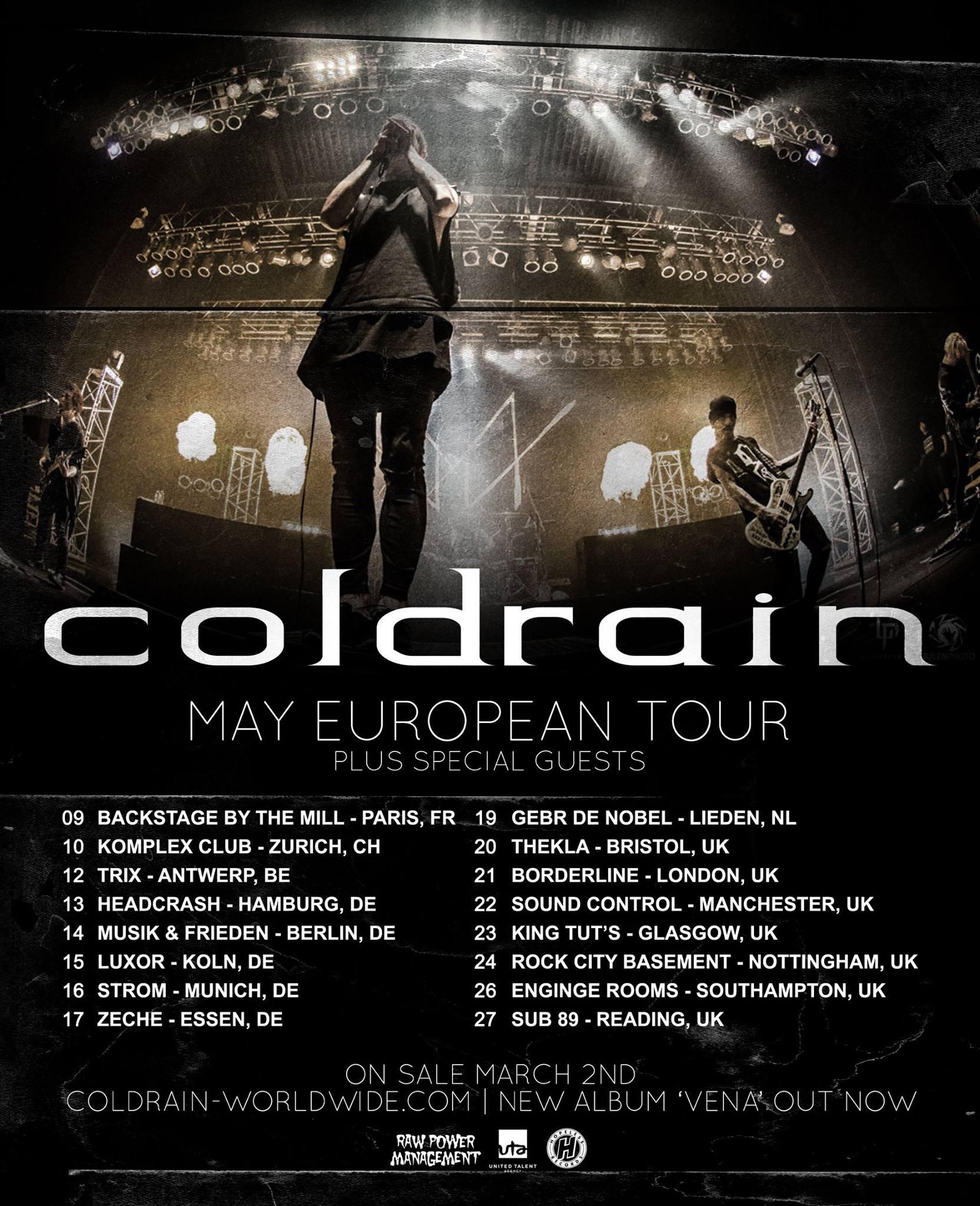 coldrain tourplakat 2016