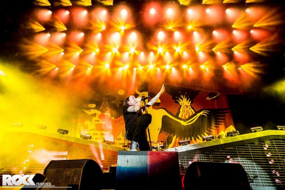Billy Talent live auf der Seat Volcano Stage bei Rock am Ring 2016. Foto: Steffie Wunderl