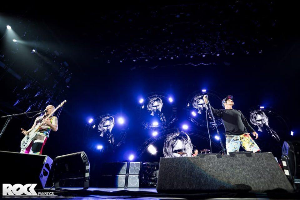 Red Hot Chili Peppers live auf der Seat Volcano Stage bei Rock am Ring 2016. Foto: Steffie Wunderl