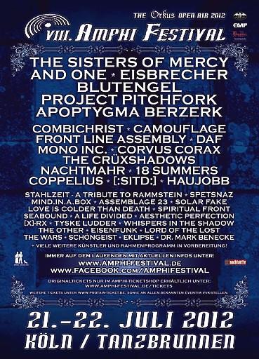 Flyer Amphi Fesival 2012 März
