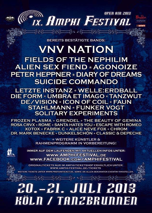 Neues vom Amphi Festival 2013