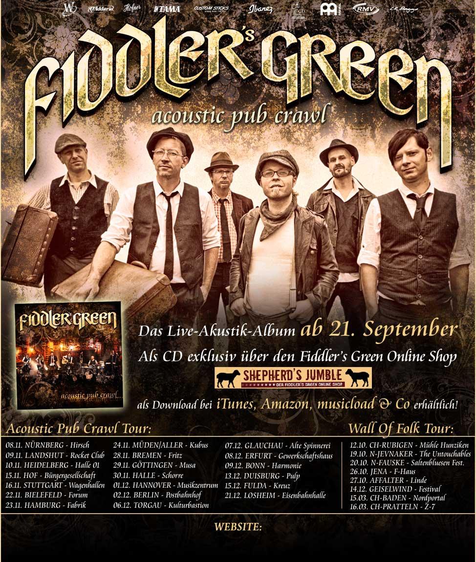 Fiddlers Green – Acoustic Pub Crawl 2012