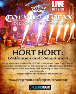 Corvus Corax - Live DVD via Pledge Music
