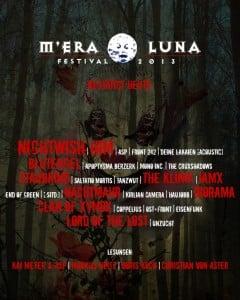M'era Luna 2013 - Weitere Bands bestätigt