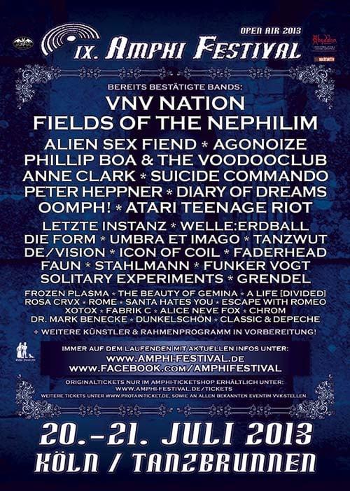 Amphi News - Weitere Bands bestätigt!