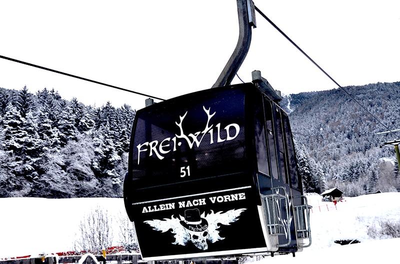 Frei.Wild - erste Band mit eigener Ski-Gondel