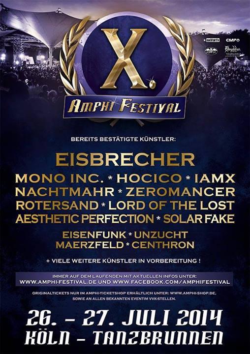 Amphi Festival 2014 - Erste Bandbestätigungen!