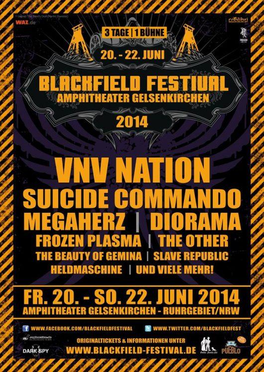 Blackfield Festival 2014 - Vorverkaufsbeginn und erste Bandbestätigungen