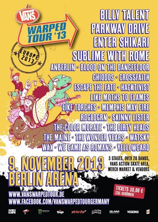 Vans Warped Tour 2013 in Deutschland
