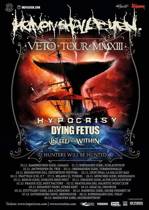 Heaven Shall Burn auf  VETO Tour - Hunters will be hunted