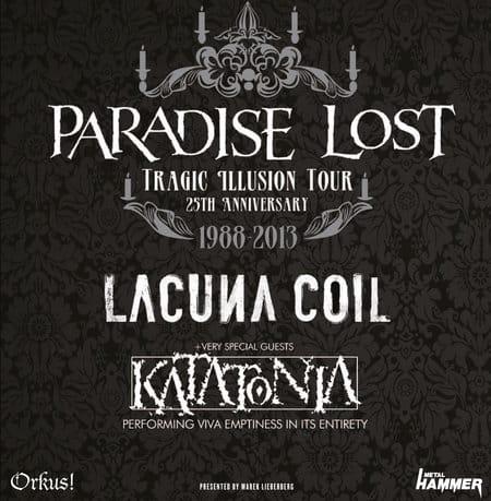 Paradise Lost - Tragic Illusion Tour 2013