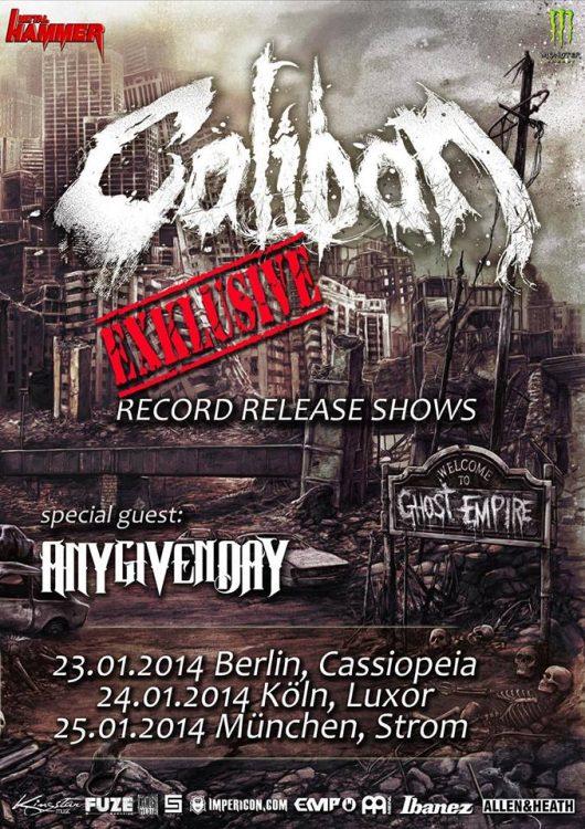 CALIBAN: Drei Record Release Shows zu neuen Album