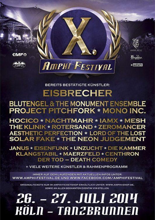 Amphi Festival - 4 weitere Bands für das Jubiläum bestätigt!