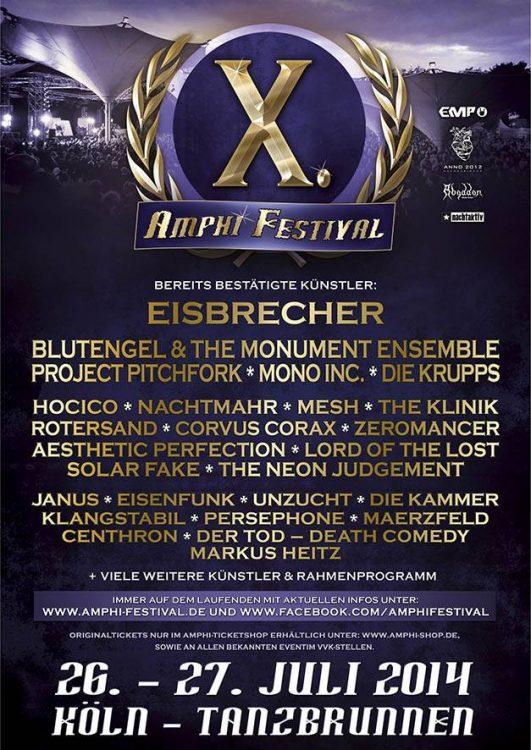 Amphi Festival 2014 - Weitere Bandbestätigungen