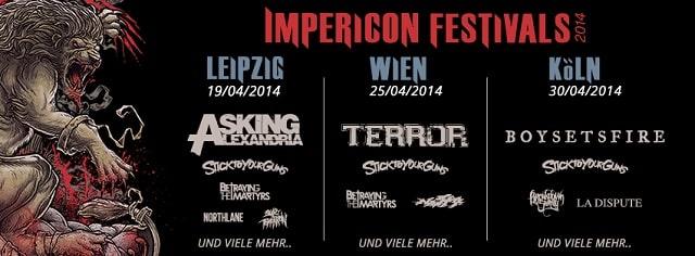 Erste Bands für die Impericon Festivals 2014