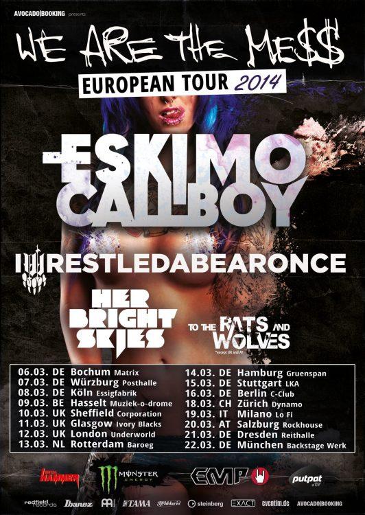 Eskimo Callboy - We Are The Mess European Tour 2014
