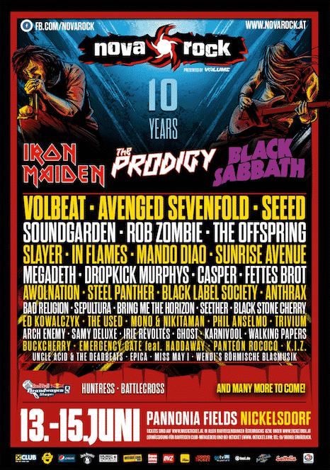 Nova Rock Festival 2014 - Neue Bandbestätigungen!