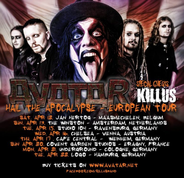 Avatar - Hail The Apocalypse-Tour 2014