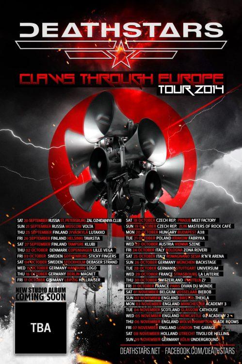 Deathstars - Claws Through Europe-Tour verschoben