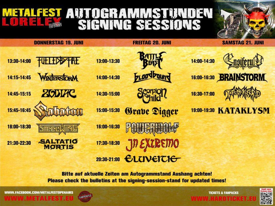 Metalfest Loreley - Autogrammstunden