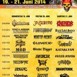 Metalfest Loreley - Running Order