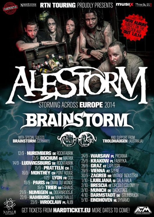 Alestorm - Storming Across Europe Tour 2014