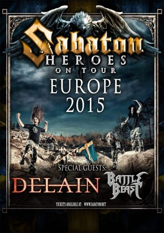 Sabaton - Heroes Tour 2015