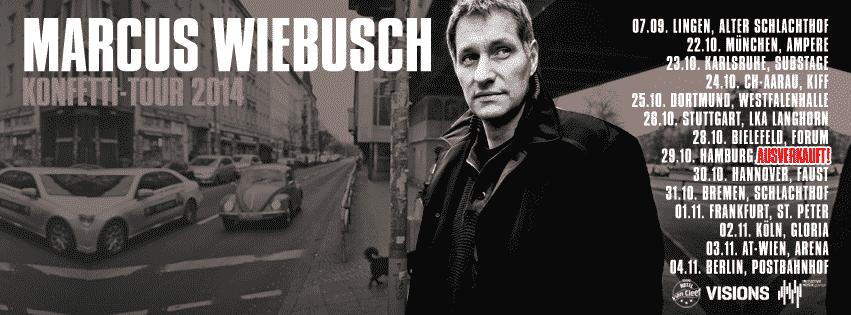 Marcus Wiebusch - Tour 2014