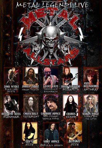 Metal All Stars - Western European Tour 2014