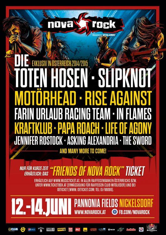 Nova Rock 2015 - Die erste Bandwelle