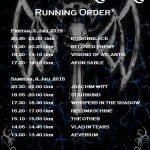 Castle Rock 2015 - Running Order