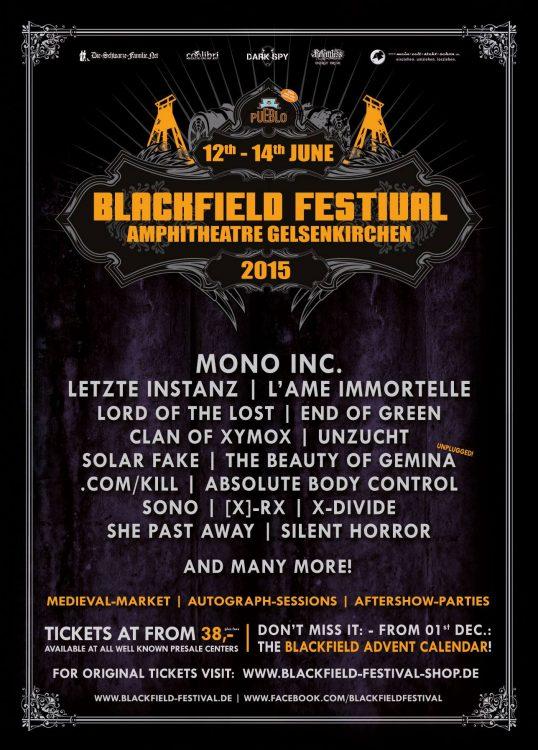 Blackfield 2015 - Bands und das erste Kalendertürchen