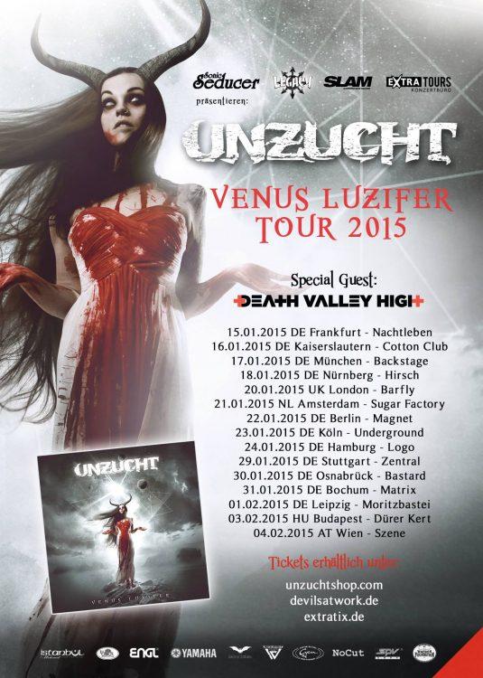 Unzucht - Venus Luzifer Tour 2015