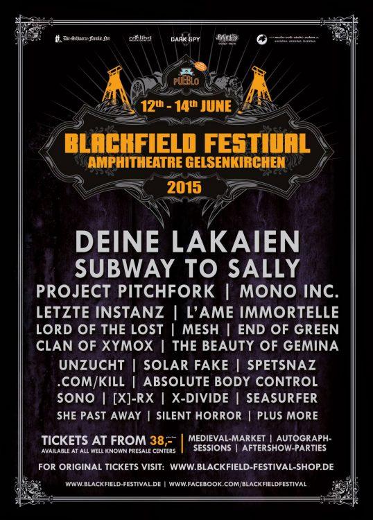 Blackfield Festival 2015 - Project Pitchfork und Subway To Sally bestätigt