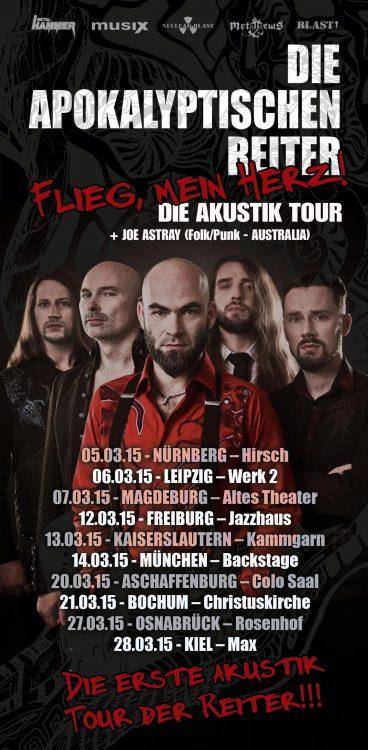 Die Apokalyptischen Reiter - Flieg mein Herz! Akustik Tour 2015