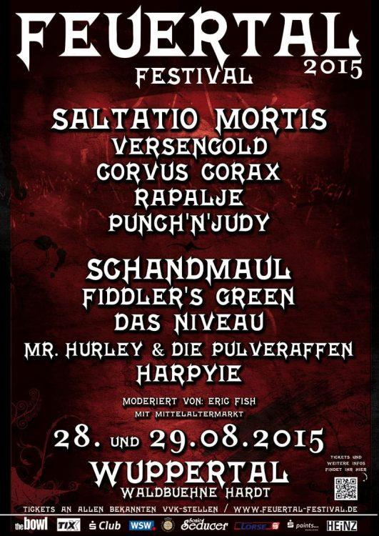 Feuertal Festival 2015 - Das vollständige Line-Up