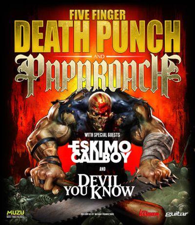 Five Finger Death Punch - Tourtermine gemeinsam mit Papa Roach
