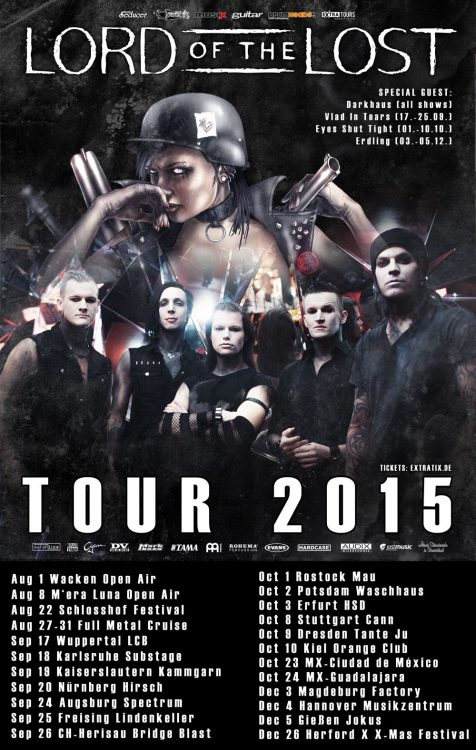 Lord Of The Lost - Make Love Make War Tour 2015