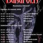 Burgfolk Festival 2016 - Die Running-Order
