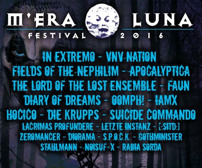 M'era Luna Festival 2016 - Die ersten Bands