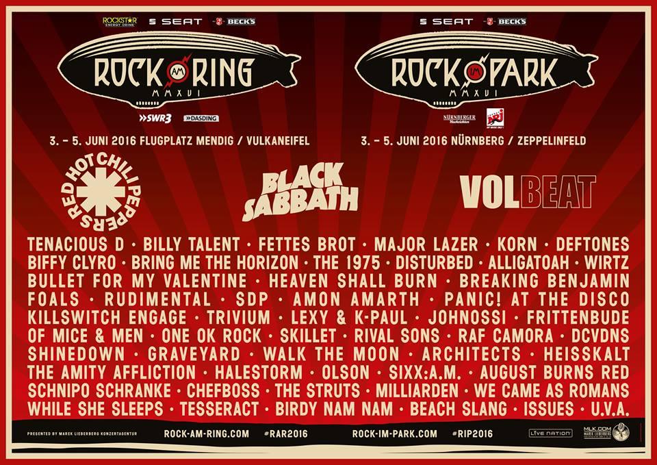 Rock am Ring / Rock im Park 2016 - Die nächste Bandwelle