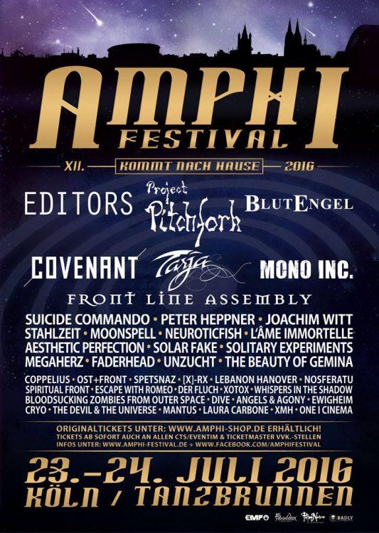 Amphi Festival 2016 - das komplette Line-Up