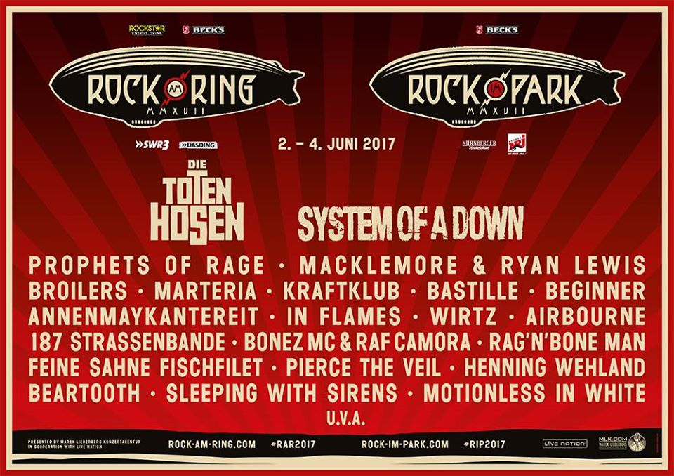 Rock am Ring / Rock im Park 2017: Die erste Bandwelle