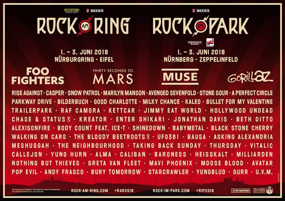 Rock am Ring & Rock im Park 2018: Die zweite Bandwelle