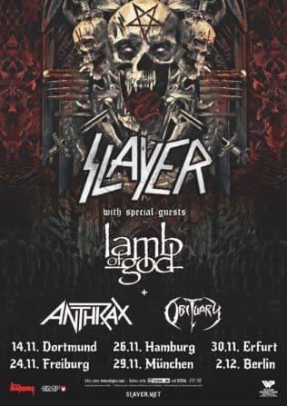 """Slayer kommen auf """"Final World Tour 2018"""""""