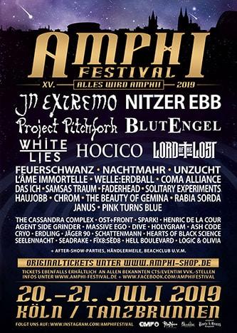 Der offizielle Flyer zum Amphi Festival 2019