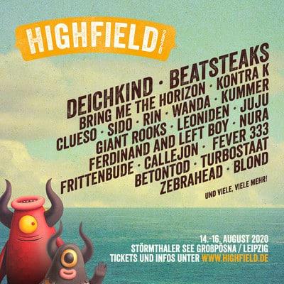 Highfield Festival 2020: Die ersten Bands