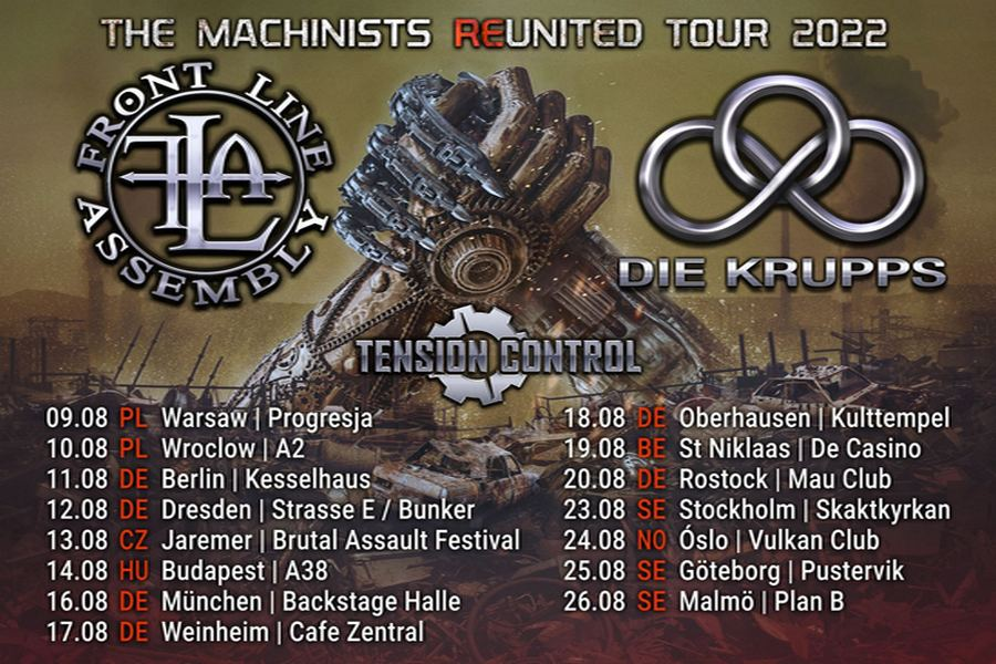 © Front Line Assembly Die Krupps Tour 2022